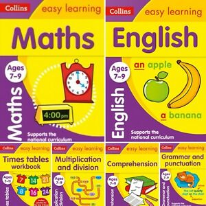 Collins Easy Learning KS2 for Ages 7-9. Six Book Set (Paperback) *NEW* Free Del