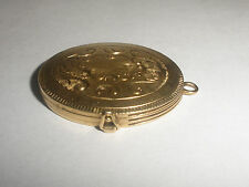 great vintage 14k yellow gold locket pendant for multi photo etched