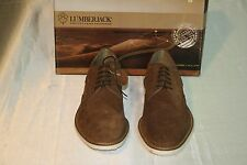 New Men's Lumberjack Brown Leather Casual Formal Lace Up Shoes Size Us 11 Eur44