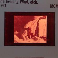 "Edward Hopper ""evening Wind 1921"" Etching. 35mm Art Slide Ashcan School Realism"