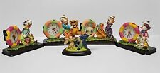 Hand Painted Dentist Clown w/ Animal Patients Clocks Figurine Collection 5/Set