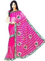 Indian Bollywood Wedding Sequin NET Sari Saree Belly Dance Curtain Fabric Dress