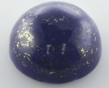 10mm ROUND CABOCHON-CUT ROYAL-BLUE WITH GOLDEN FLECKS NATURAL LAPIS LAZULI GEM
