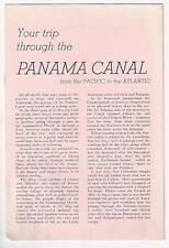 1930's Travel Brochure Your Trip Through Panama Canal United States Lines
