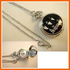 NEW The Beatles Women Ladies Girl Men Boy Fashion Pocket Watch Necklace + CHARM