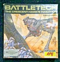 "Battletech Crescent Hawks's Inception PC Game 1988 3.25"" & 5.25"" disks"