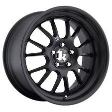 """Klutch Wheels 18X9.5 +42 SL14 5x100 Flat Black Rims (Set of 4) 3"""" LIP"""