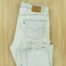 vtg LEVI'S 505 red tab jeans 42 x 30 tag super light wash 90s distressed