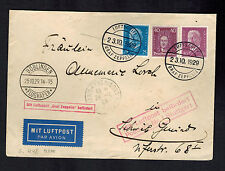 1929 Boblingen Germany Graf Zeppelin Cover Spain Flight via Paris