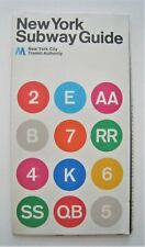 Vintage 1972 Version 2  New York Subway Map System Guide Massimo Vignelli MoMA