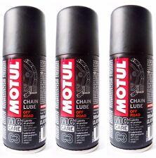 3 x 100 ML Grasa Spray para Cadena moto Motul C3 cadena Lube De Carretera e Quad