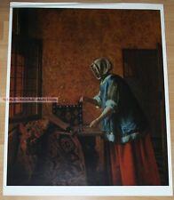 PIETER DE HOOCH - WOMAN WEIGHING GOLD * KUNSTKREIS LUCERNE ART PRINT 1963