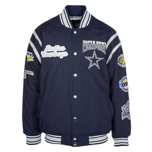 Dallas Cowboys Super Bowl Jacket - Varsity Twill Men's Large - Free Ship