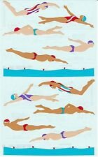 Mrs. Grossman's Giant Stickers - Swimmers - Swimming - 2 Strips
