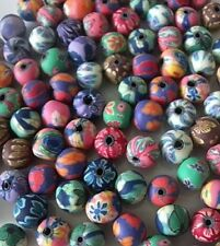 50 mixte fimo polymer clay 8MM fleur perles rondes-free & fast p&p
