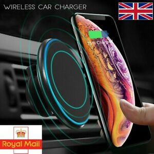 ☆ 2in1 Qi Wireless Car Charger Magnetic Phone Holder Mount For iPhone 12 Pro Max