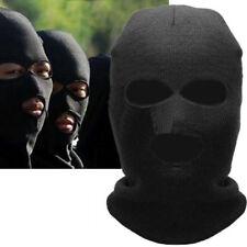 Black Balaclava Motorcycle Neck Winter Ski Full Face Mask Cover Hat Cap NEW FE