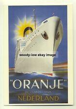 ad2157 - Holland Java Line - Oranje - modern poster advert postcard