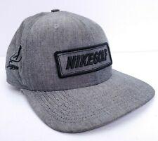 Nike Golf Strap Back Baseball Cap Gray Black TPC Sawgrass Adjustable Dad Hat Bx1