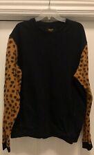 Authentic 10 Deep leopard print sleeves crewneck sweatshirt XXL 2XL