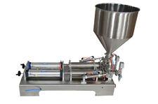 110V 50-500ml Paste&liquid filling Machine Double Head Piston Filler with Hopper