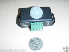 12 VOLT Motion Detector sensor switch PIR 12-12 volt DC w/timer great for LED's