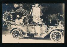 France VILLEFRANCHE-SUR-MER decorated car 1926 RP PPC