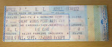 1989 THE CURE CONCERT TICKET STUB BOSTON GREAT WOODS ROBERT SMITH BOYS DON'T CRY