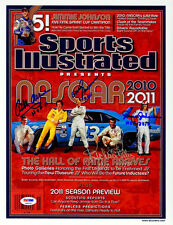 Allison David Pearson Petty Johnson SIGNED SI Print NASCAR PSA/DNA AUTOGRAPHED