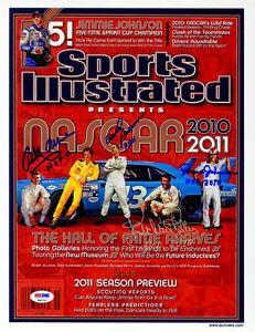 Allison David Pearson Petty Johnson SIGNED SI Print NASCAR PSA/DNA AUTOGRAPHED