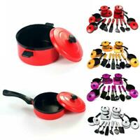 13Pcs Kids Play Kitchen Cooking Set Toy Childrens Utensils Pots Pans Funny