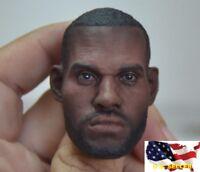 1/6 scale LeBron James Head sculpt 2.0 NBA for Enterbay hot toys phicen ❶USA❶