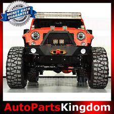 Rock Crawler Front Bumper+Fog Light Mount+Winch Plate For 07-17 Jeep JK Wrangler