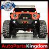 Rock Crawler Front Bumper+Fog Light Mount+Winch Plate For 07-18 Jeep JK Wrangler