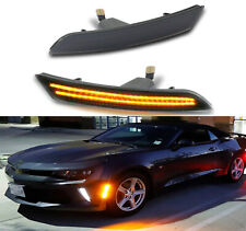 LED Front Flector Side Marker Light Lamp For 16-18 Chevy Camaro Cadillac CTS ATS
