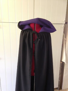 black cloak with hood  coloured lining. length choice. can be made to length (be