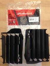 Honda CRF 250 R 2014-2015 Polisport Persiana del radiador Rad guardias Negro