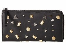 McQ by Alexander McQueen Intro Leather Stud Wallet Black MSRP $395