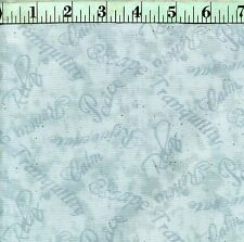 "BTY Aqua Words ""Tranquil Moments"" Wilmington 100% Cotton Quilt Shop Fabric"