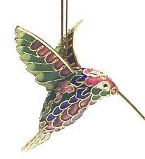Hummingbird Pendant Figurine Ornament Handcrafted Cloisonne Enamel Great Gift