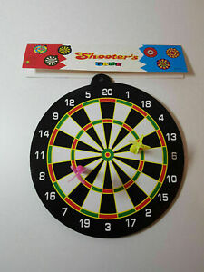 Magnetic Dart Board Toy Safety With 2 Darts Game Kids Safe Black & White