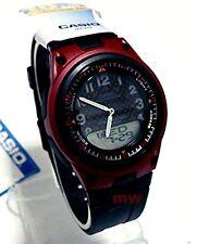 Casio AW-80-4BV Sports Analog Digital Databank World Time Black Rubber Men Watch