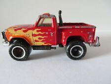 Vintage Matchbox Car Flareside Pick Up Truck 1982 Red   #1882
