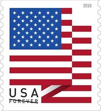 Roll of 100 USPS First Class Mail Forever Postage Stamps For 2018 Releases