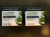 2X Jars of: ApotheCARE Essentials Phytoyoung Firming Eye Cream 0.4 Fl Oz