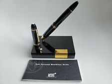 Montblanc 149 Desk Pen Stand W-Germany w/149 Tri-Color 18C Fountain Pen MINT