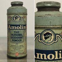 Antique AMOLIN The Personal Deodorant Powder Tin New York NY USA Advertising