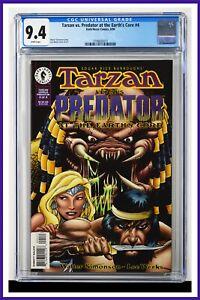 Tarzan vs. Predator At The Earth's Core #4 CGC Graded 9.4 June 1996 Comic Book.