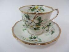 Royal Albert England White Dogwood Teacup & Saucer