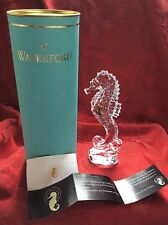 NEW NIB Exceptional FLAWLESS Art Crystal WATERFORD Sculpture SEAHORSE